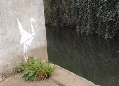 Banksy picture in Lyme Regis